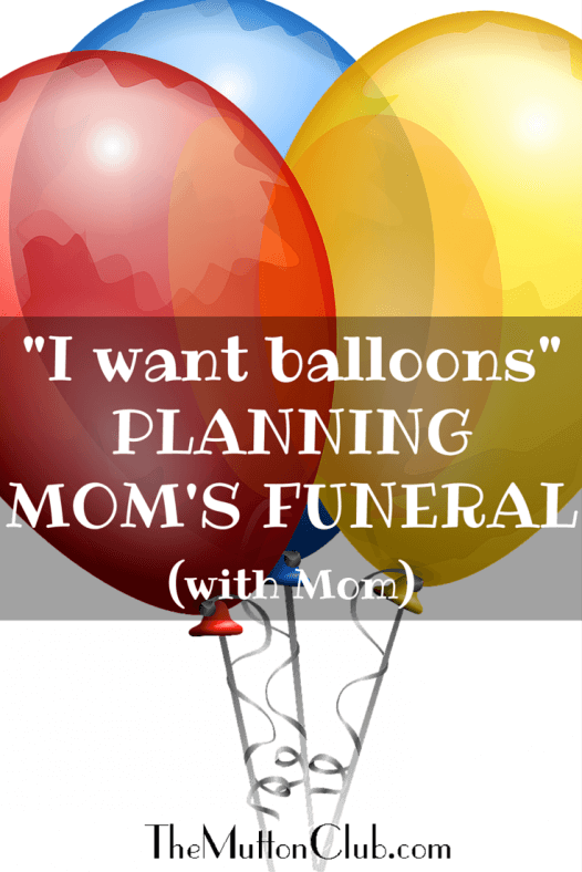 planning mom's funeral